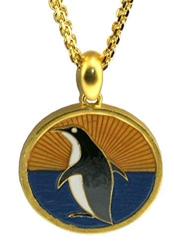[Penguin 24ct Matt Gold Plated and Hand Enamelled Pendant Designed by Nicholas Humphrey-Smith of] (Matt Smith Costume)