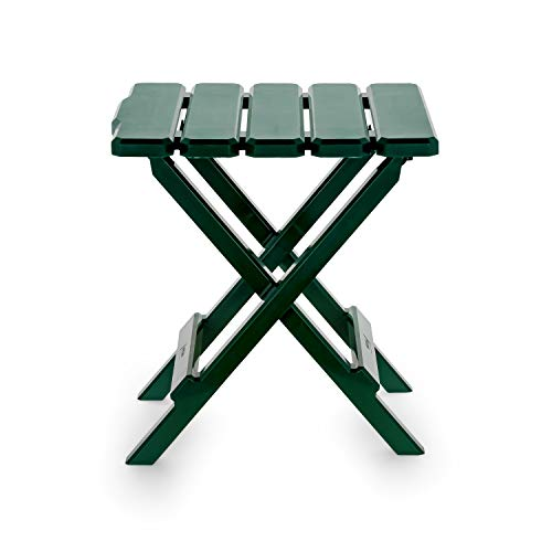Camco 51681 Green Regular Adirondack Portable Outdoor Folding Side Table, Perfect for The Beach, Camping, Picnics, Cookouts and More, Weatherproof and Rust Resistant