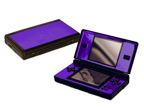 - Nintendo DS Lite Skin (DSL) - NEW - PURPLE CHROME MIRROR system skins faceplate decal mod