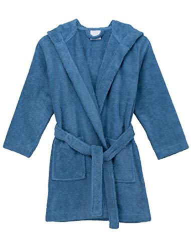 (TowelSelections Big Girls Robe, Kids Hooded Cotton Terry Bathrobe Cover-up Size 10 Riviera)