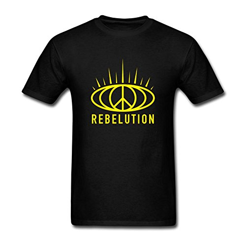 Rosar Men's Rebelution Band O Neck Short Sleeve T Shirt (Band Rebelution)