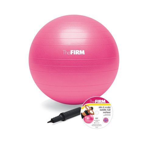 The Firm Slim and Sculpt Stability Ball with DVD, Pink, 55-Centimeter (Ball Exercise Dvd)
