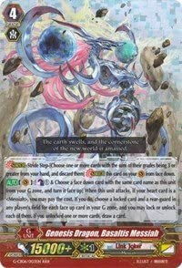 CARDFIGHT VANGUARD GENESIS DRAGON BASALTIS MESSIAH G-CB06//003EN RRR