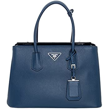 4c766cd4f910 Amazon.com  Prada Women s Saffiano Tote Navy  Shoes