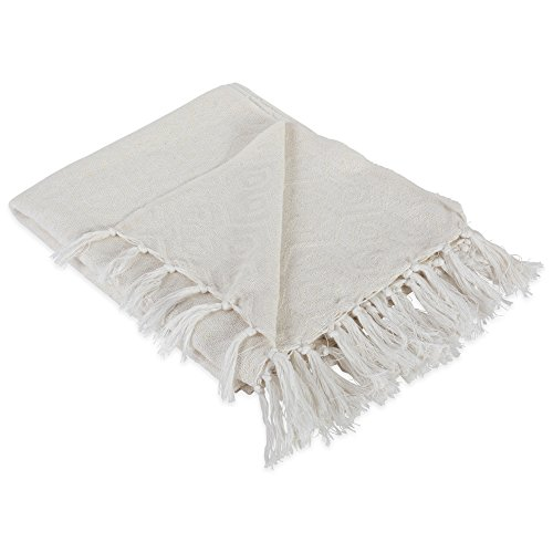 (DII Modern Cotton Geometric Blanket Throw with Fringe For For Chair, Couch, Picnic, Camping, Beach, Everyday Use, 50 x 60