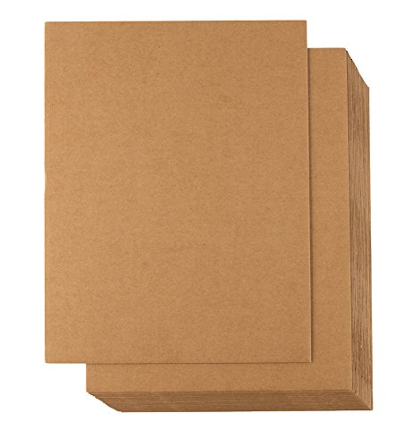 - Corrugated Cardboard Sheets - 24-Pack Flat Cardboard Sheets, Cardboard Inserts for Packing, Mailing, Crafts - Kraft Brown, 8.5 x 11 Inches