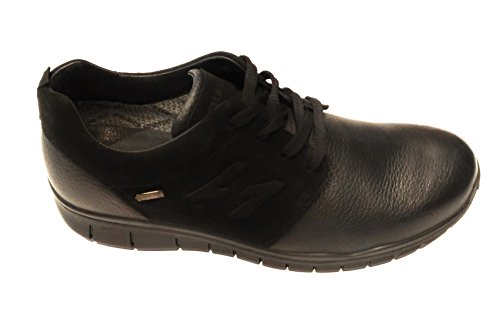 SNEAKERS IGI & CO PELLE NERA MEMBRANA IN GORETEX