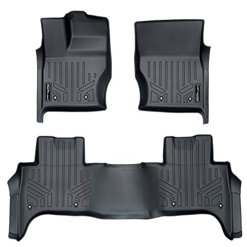 2018 Land Rover - SMARTLINER Custom Fit Floor Mats 2 Row Liner Set Black for 2014-2019 Land Rover Range Rover Sport