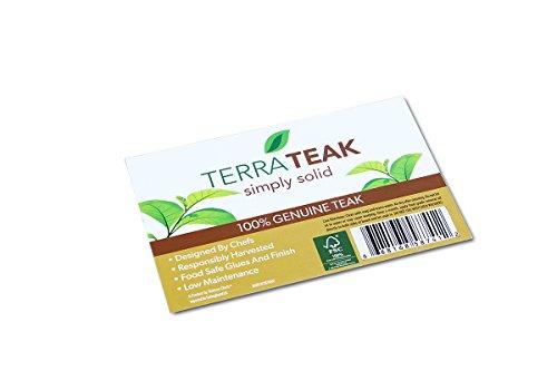 Terra Teak Cutting Board - Extra Large Wood Board 24 x 18 x 1.5 Inch by Thirteen Chefs (Image #5)