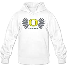 Mens Oregon Ducks With Wings Hoodies White 100% Cotton