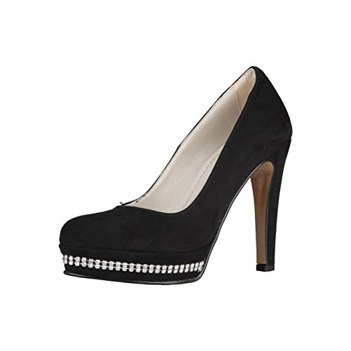 Damenschuhe High Schwarz NERO Black Heels 39 9801STRASS 6 UK PRIMADONNA EU Pumps IBOvEIFq