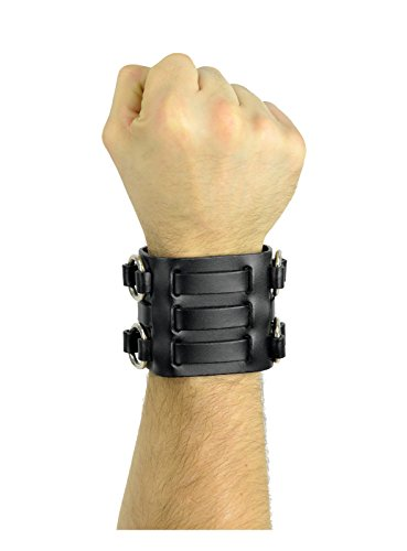 Luke Duke Costume (Triple Strap Leather Wristband Jedi Costume Accessory Black (Black))
