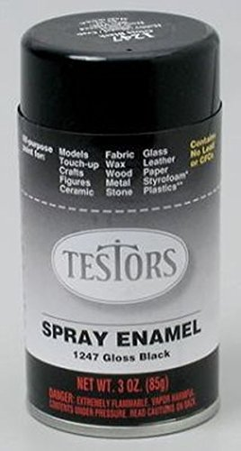 Gloss Black Enamel Paint 3oz Spray Can
