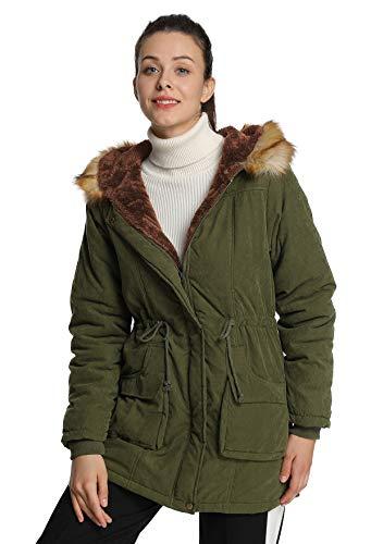 4HOW Womens Parka Jacket Winter Long Coat Hooded Warm Parkas Coats Outdoor...