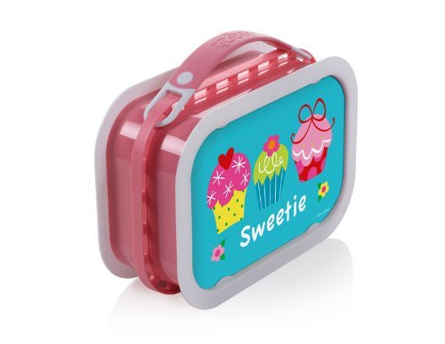 Yubo Deluxe Lunchbox with Cupcakes design, -