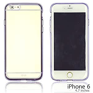 OnlineBestDigital - Colorful Gel Outlet with Hard Back Case for Apple iPhone 6 (4.7 inch)Smartphone - Purple with 3 Screen Protectors