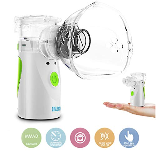 BINLEFOIS Portable Cool Mist Vaporizer and Handheld Inhaler Machine, Adults Kids and Daily Home Use