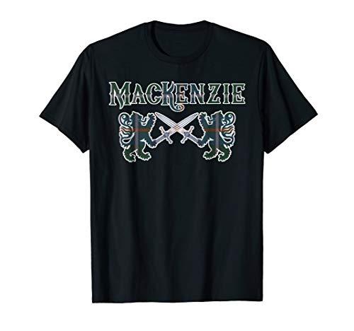 Clan MacKenzie Scottish T-Shirt Family Kilt Tartan Lion Gift