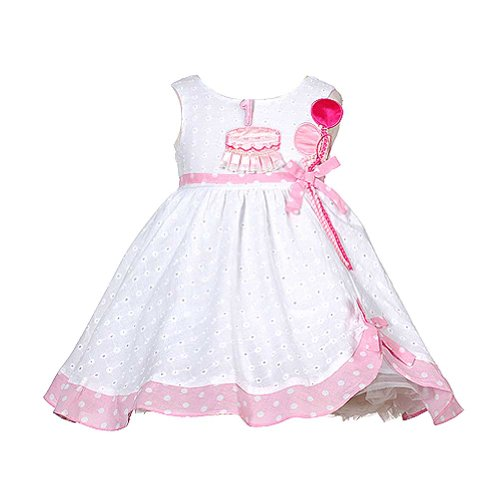 White Pink Balloon 1st Birthday Dress Baby Girl 18M by Sophias Style