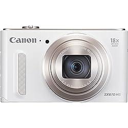 Canon SX610 HS PowerShot Fotocamera Compatta Digitale, 20 MP, Bianco