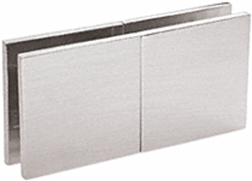 OKSLO CRL Brushed Satin Chrome Square 180 Degree Glass-to-Glass Movable Transom Clamp