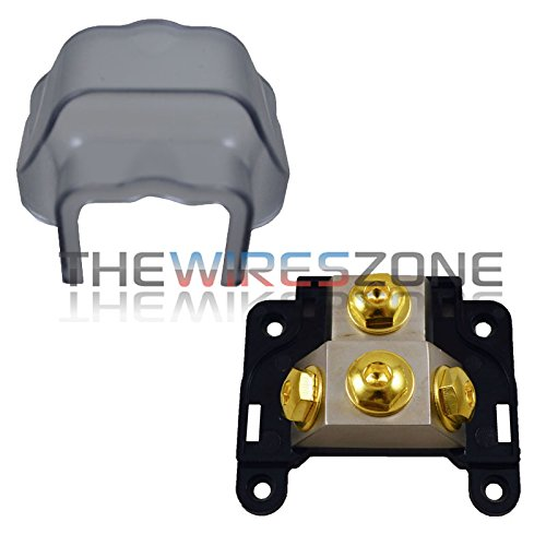 Any Gauge 3-Position Ground/Power Distribution Block for Car Audio Amplifiers by The Wires Zone