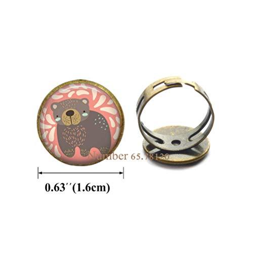 Yijianxhzao Bear Ring Bear Ring Wearable Art Jewelry Animal Ring Bear Jewelry,Bear Ring Animal Charm Kid Teen Jewelry Women Gift Charm Birthday Gift,BV206 (V2) from Yijianxhzao