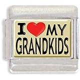 I Heart My Grandkids Italian Charm Bracelet Link