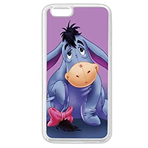 """Customized White Soft Rubber(TPU) Disney Winnie the Pooh Eeyore iphone 6 4.7 Case, Only fit iphone 6 4.7+ """""""