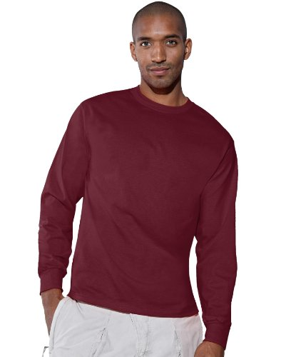 agless Cotton Long Sleeve T-Shirt, Color: Maroon, Size: (Long Sleeve Tape)