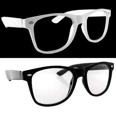 amazoncom lot 2 black clear lens and white dark lens shoes