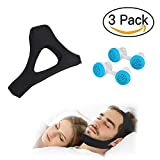 Anti Snoring Chin Strap + 2 Set Nose Vents, 2019 Most Effective Snoring Solution and Anti Snoring Devices for Men and Women, Naturally And Effectively Anti Snoring Aid Sleep Device for Snoring Sleeping Mouth Breather