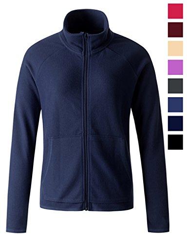 size thermal full zip up fleece jacket Blue 3XL XXX-Large (Navy Blue Fleece)