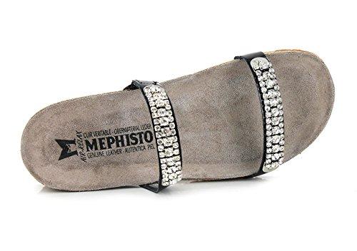Mephisto Womens Leather Negro Ivana Sandals WWagx1A