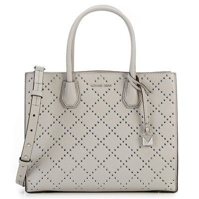 8059bdb8068e Galleon - Michael Kors Mercer Large Studded Convertible Tote In Pearl Grey
