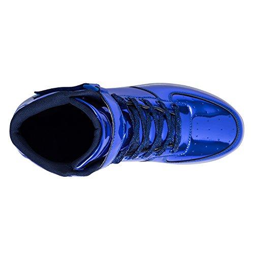 Lampeggiante Ragazzi Sneakers Blue Scarpe USB B Carica FLARUT Scarpe Bambino LED Luminosi Ragazze Sportivet BdwwnpqA