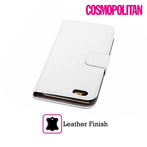 Official Cosmopolitan Pink Stripes Collection Leather Book Wallet Case Cover For Apple iPhone 4 / 4S