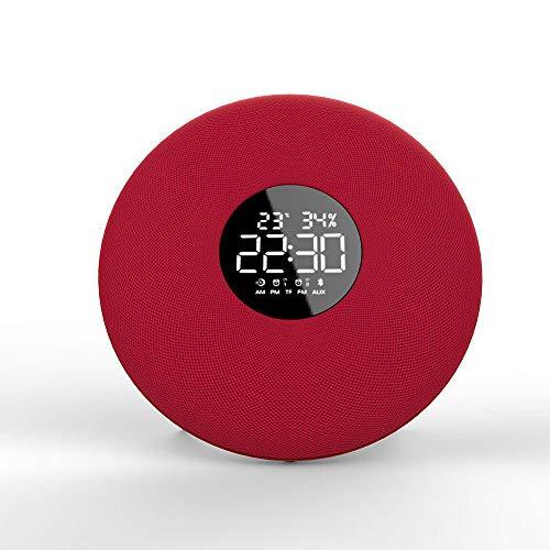 ILYO Elegante Altavoz inalámbrico Bluetooth para la visualización de la Temperatura Ambiente en Tiempo Real,Red