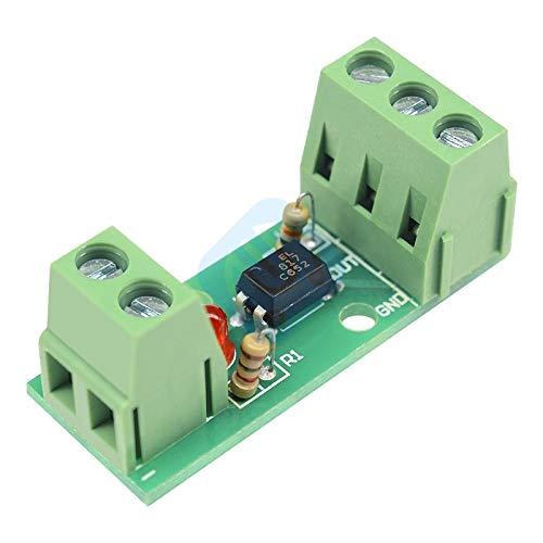 - 12V 1 Channel 1CH Optocoupler Isolation Isolated Board Module Rail Holder PLC Processors 80KHz PC817 EL817 Drive Motor Inverter