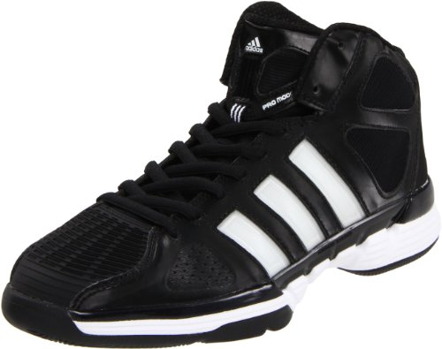 adidas Men's Pro Model Zero Basketball Shoe,Black/Running White/Metallic Silver,8.5 M -