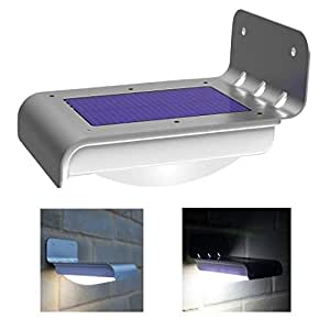Frostfire 16 Bright LED Wireless Solar Powered Motion Sensor Light (Weatherproof, no batteries required)
