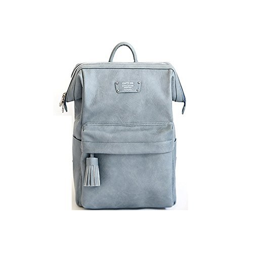 Chair Mocha Stone - Cratte Mini Office Leather Business Backpack (Stone Blue)