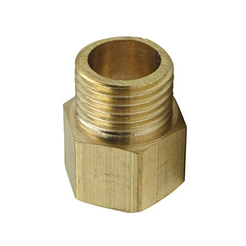 Adapter Connector Eyeball - 1.5-1.5 Inch Brass Barbed Threaded Fitting Coupler Connector Joint Adapter