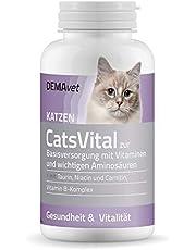 DEMAvet Complemento alimenticio para Gatos CatsVital, desarrollado por Veterinarios, vitaminas, aminoácidos, arginina, lecitina, Complejo de Vitamina B, 175 Pastillas
