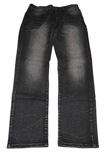American Eagle Outfitters Mens Slim Straight Black Denim Jeans, 32 x 30