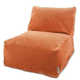 Majestic Home Goods Villa Orange Bean Bag Chair Lounger