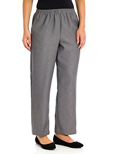 Alfred Dunner Polyester Pants - Short/Plus Size, Grey, 22W