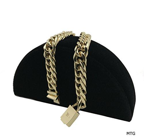 Cuban Link Bracelet 11mm Real 14K Solid Gold Filled Tarnish-Resistant Comes in an MTG gift Box USA Made! (14k Link Bracelet)