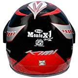 faishionpro Men's FP Monte X-1 Professional Full Face Helmet (Free Size)