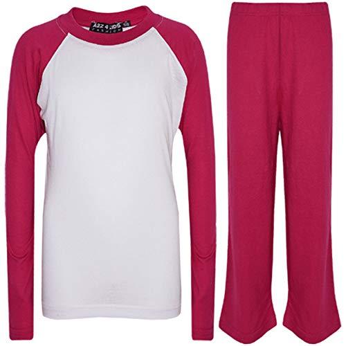 Rosé 10 Ans 4 A2z 5 Set Contraste Pj's 12 Plaine Kids 9 13 Couleur Pyjamas Unisexe 11 Âge 7 8 6 Z4HqwgR4